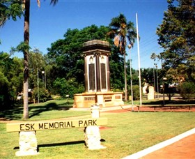 Esk War Memorial and Esk Memorial Park - Perisher Accommodation