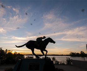 Black Caviar Statue - Perisher Accommodation
