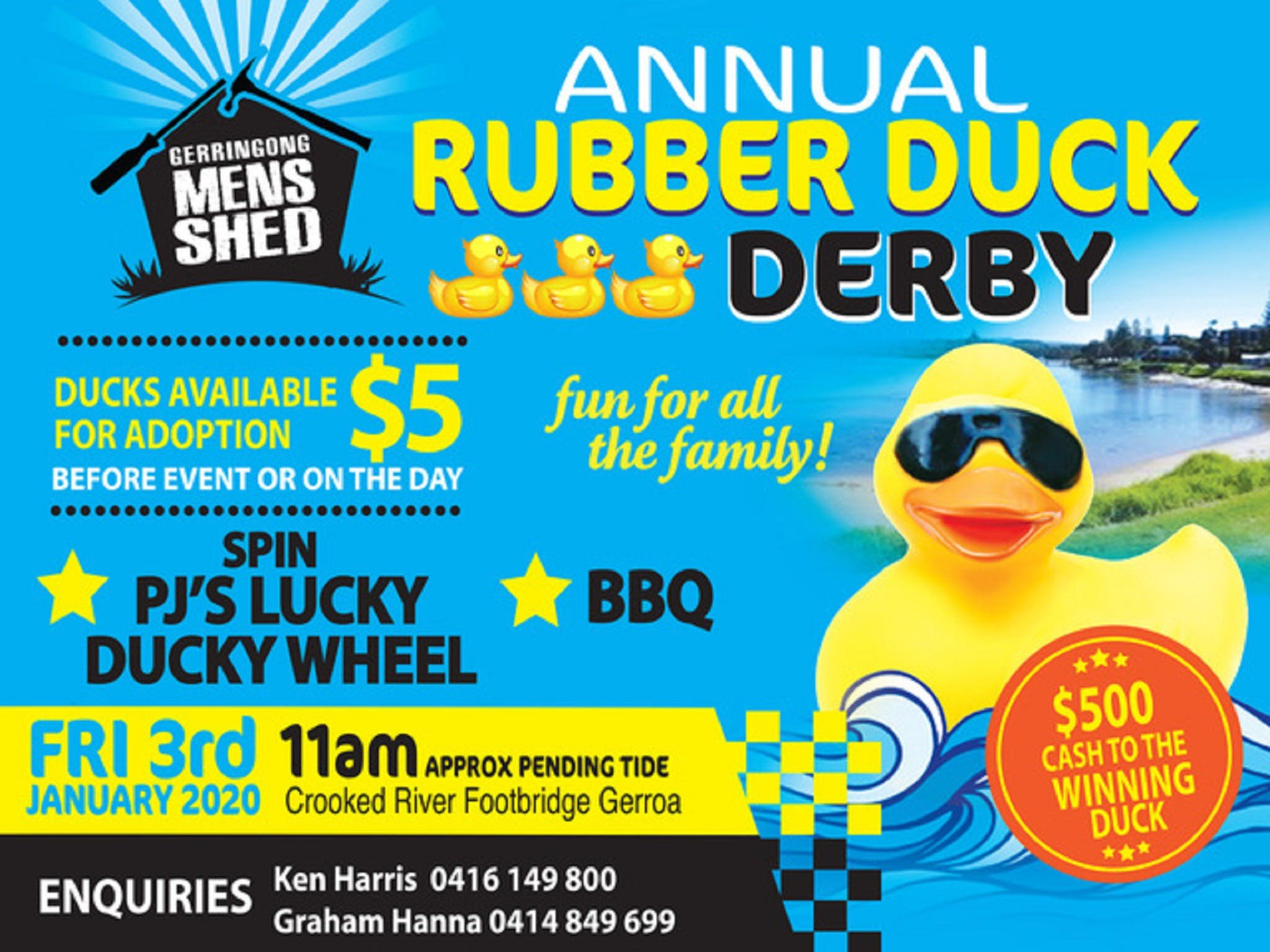 Gerringong Mens Shed Annual Duck Derby - Perisher Accommodation